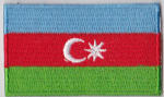 Azerbaijan Embroidered Flag Patch, style 04